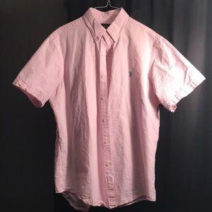 Ralph Lauren Button Up (Pink)